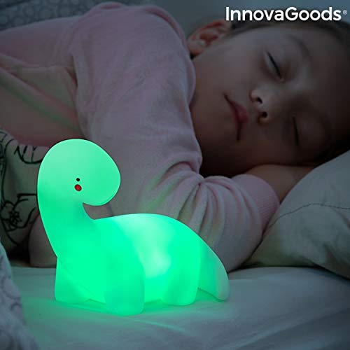 InnovaGoods LED lamp dinosaurus, meerkleurig, Lightozuur, wit