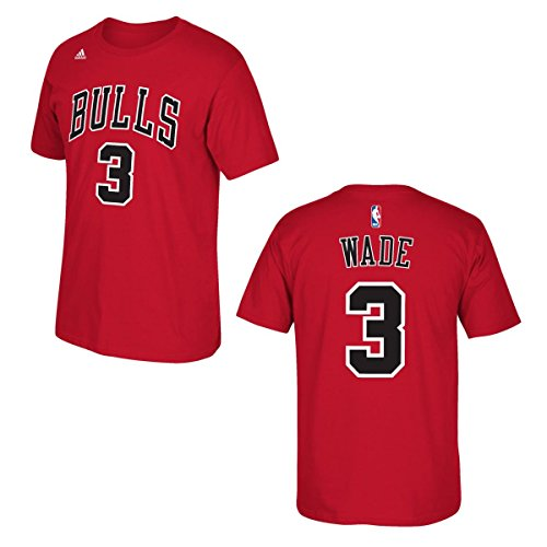 adidas Dwyane Wade Chicago Bulls Red Jersey Name and Number T-Shirt XX-Large