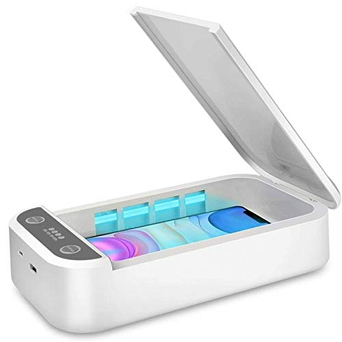 UV Light Sanitizer Box for Baby Pacifier, Cell Phone, Bottle Nipples, Sippy Spout, Toy - Portable Smartphone Sterilizer Cleaner Station - Multi-Function Pacifier Disinfection