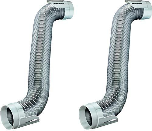 Deflecto Easy Connecting Dryer Vent Hook Up Kit, Flexible Semi-Rigid Aluminum Duct, (HUPK8WA/4) (2 Kits)