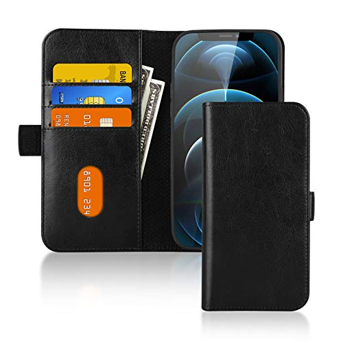 Gonii Wallet Case for iPhone 12/12 Pro Case 61quot PU Leather Flip Case with Card Holder Durable Shockproof Kickstand Case Cover for iPhone 12 and 12 Pro
