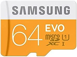 Samsung Memory 64GB Evo MicroSDXC UHS-I Grade 1 Class 10 Memory Card with SD Adapter