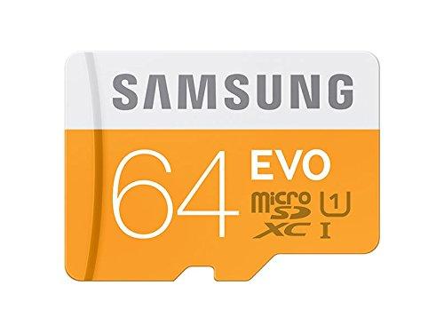 Samsung geheugenkaart MicroSDHC UHS-I Class 10, voor smartphones en tablets EVO 64GB oranje, wit