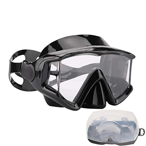 AQUA A DIVE SPORTS Scuba Snorkeling Dive Mask for Scuba Diving Snorkeling Free Diving Swimming Goggles(PC Lens Black)