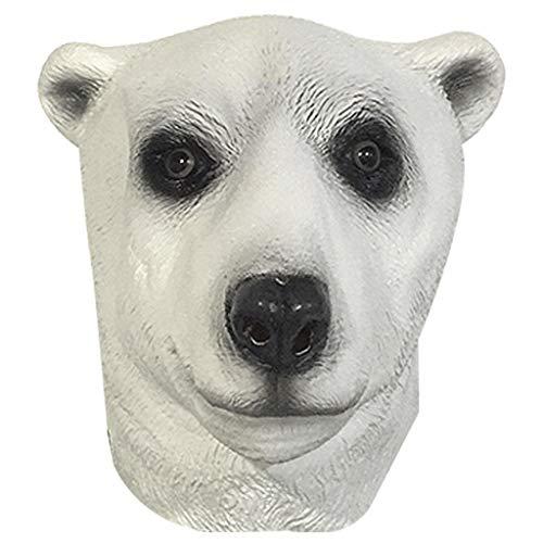 Yingji Maschera dell'orso Polare,Maschera in Lattice Testa di Animale, for Halloween, Festa in Costume, Cosplay, Carnevale, Accessori for Decorazioni for Feste