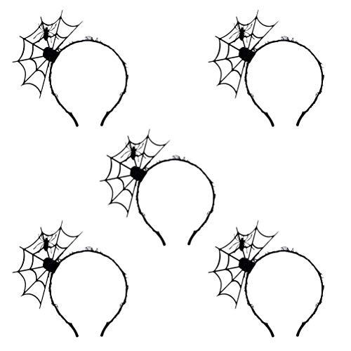 Urisgo Batgirl Haarband spinnenkop dames Halloween kapsel accessoire voor Halloween kostuum Cosplay Party