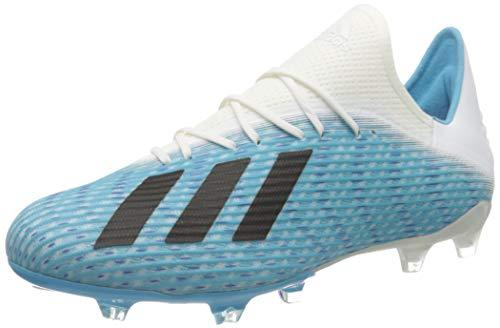 adidas Herren X 19.2 Fg Fußballschuhe, Blau (Bright Cyan/Core Black/Shock Pink Bright Cyan/Core Black/Shock Pink), 47 1/3 EU