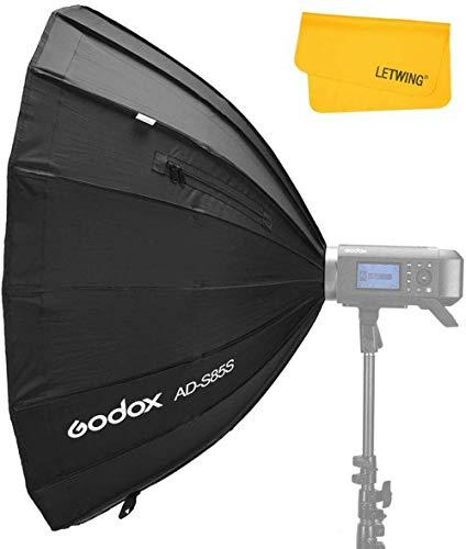 Godox AD-S85S 85 cm Quick Installation Silver Reflector, Portable Softbox Umbrella for Godox AD400Pro AD300Pro Flash (AD-S85S)
