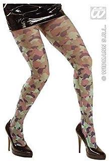 Lively Moments Lively Moments Feinstrumpfhose / Strumpfhose im Flecktarnmuster / Kostüm Zubehör Camouflage / Armeelook / Kostümzubehör Army Girl