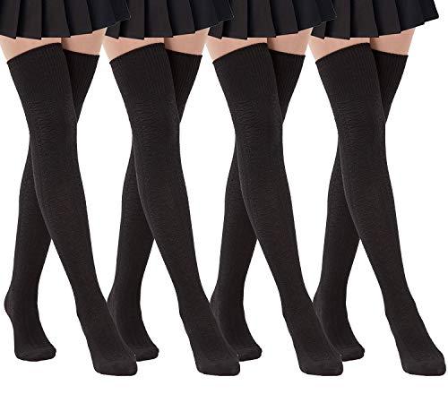 Damen Oberschenkelhohe Socken über dem Knie hohes Bein Wamers Mädchen Winter Warme Häkelsocken - - Einheitsgröße