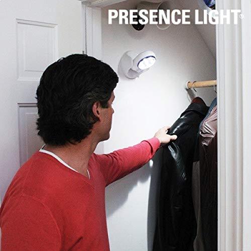 Eurrowebb Lampe d'appoint à Piles projecteur avec détecteur de Mouvement