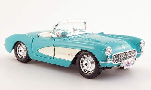 Chevrolet Corvette, mint, 1957, Modellauto, Fertigmodell, Maisto 1:24