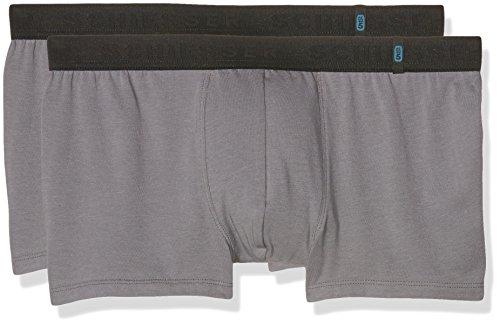 Schiesser Herren Boxershorts 95/5 Shorts, 2er Pack, Grau (Grau 200), L (Herstellergröße: 6)
