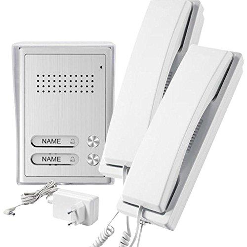Preisvergleich Produktbild GEV 2-Familienhaus Audio-Türsprechanlage CAB 87354,  5 V,  Silber Weiss