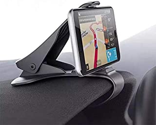 Car Phone Mount - MASO Universal HUD Design Smart Phone Holder 6.5 Inch Universal Clip On Car HUD GPS Dashboard Mount Cell Phone Holder Non-slip Stand for Safe Driving, for iPhone Android