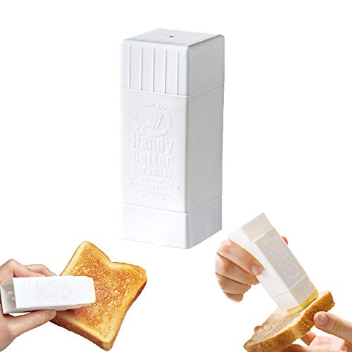 ANZY Soporte para esparcidor de mantequilla, dispensador giratorio de mantequilla de plástico, contenedor para esparcidor de maíz, para panqueques, utensilios de cocina