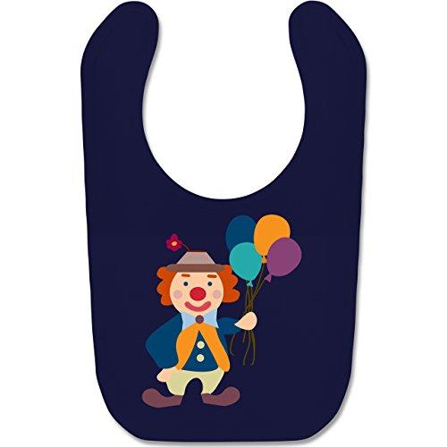 Shirtracer Bunt gemischt Baby - Clown Luftballons - Unisize - Navy Blau - Geschenk - BZ12 - Baby Lätzchen Baumwolle