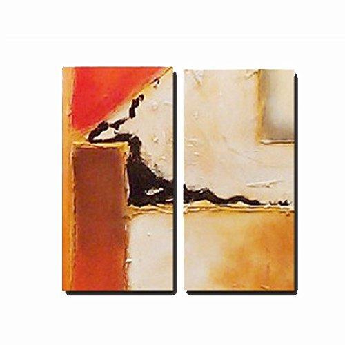 Pintura Abstracta diptico Dos Lienzos Decoracion Cuadros Arte ara el hogar, Medidas 2(80x30) cm