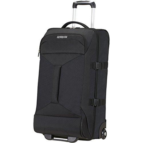 American Tourister - Road Quest Bolsa de Viaje con Ruedas, 40 litros, Negro sólido (Black), M (69cm-62,5L)