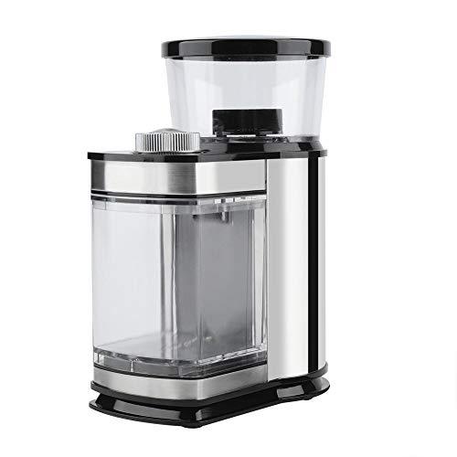 Molinillo de Café Eléctrico, 120W Molinillo de Grano de Café, de Acero Inoxidable, con los 9 Modos para Usar en el Hogar, la Cafetería(EU)