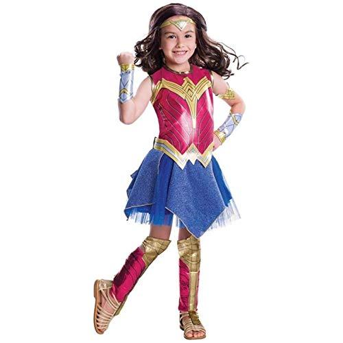 Wonder Woman Dress Cosplay Costume di Halloween per Adulti e Bambini (Color : Multi-Colored, Size : S)