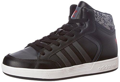 adidas Unisex-Kinder Varial Mid Sneakers, Schwarz (Core Black/dgh Solid Grey/scarlet), 32 EU