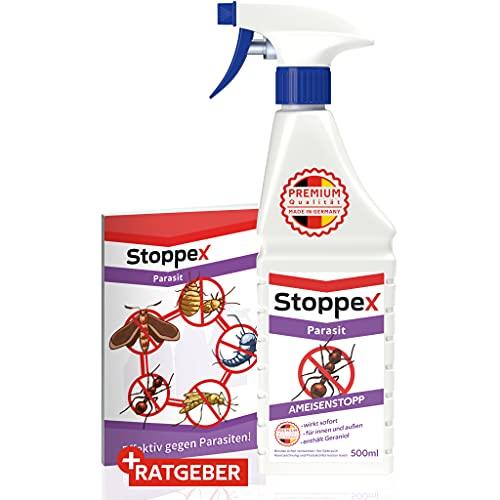 Stoppex® Parasit Ameisenstopp - Ameisen bekämpfen mit Sofortwirkung - Ameisenmittel für Innen im Haus und Draußen - wirksame Alternative zu Ameisengift Innen, Ameisen Spray, Anti Ameisen Gift