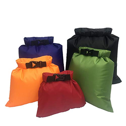 Wean 5 Stück große Kapazität Combo Beutel Ultraleicht Dry Sack Dry Bag Set wasserdichte Tasche für Camping Wandern Bootfahren Kajak Rafting Driften Angeln