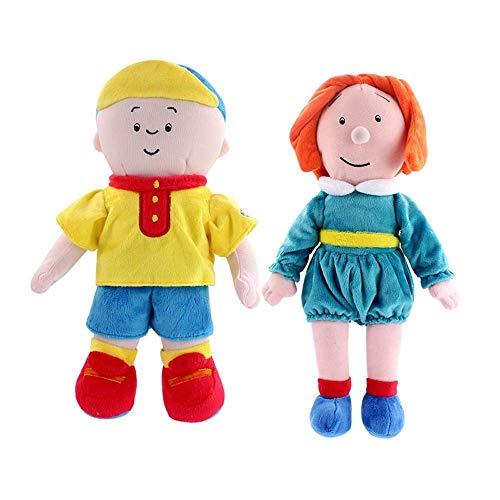 Detazhi 30cm / 35cm 2 Stück Caillou Plüschtier Caillou Schwester Rosie gefüllte Puppe Geschenk for Kinder