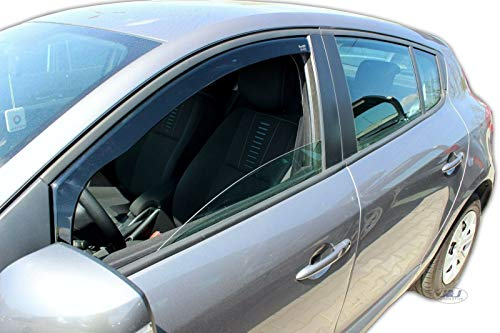 J&J AUTOMOTIVE | Deflecteurs d'air déflecteurs de Vent Compatible avec Renault Megane III 2008-2016 2 pièces