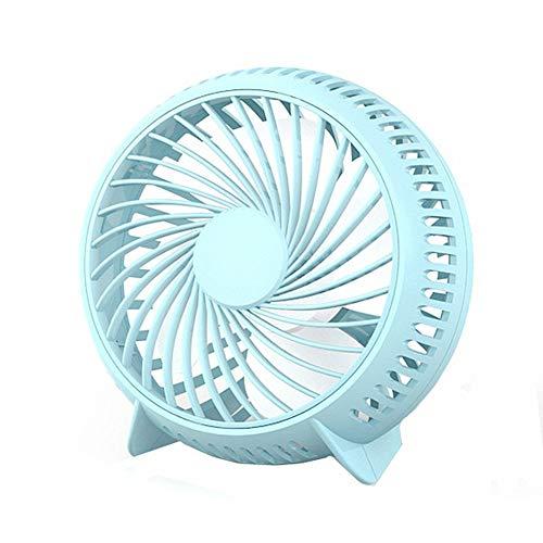 ppaphh Ventilador USB Ventiladores De Mesa Escritorio Ventilador oscilante Pequeño Ventilador de Mesa Ventilador de Escritorio Blue