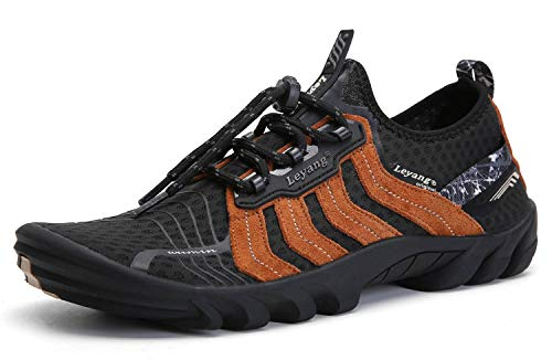 Leyang Mens Trail Running Shoes Womens Minimalist Comfortable Lightweight Barefoot Athletic Walking Jogging Shoes