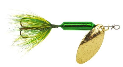 Yakima Bait Wordens Original Rooster Tail Spinner Lure, Metallic Gold Spot, 1/8-Ounce (0.125 Ounce Spot)