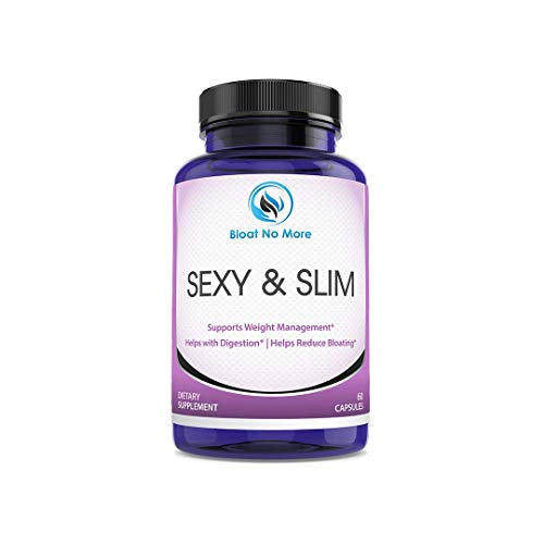 Bloat No More: Sexy & Slim - Digestive Enzyme Dietary Supplement - 60 Capsules | Helps Your Overall Digestive Health - Gas Relief - Bloating Relief - Reduce Water Retention - 30 Days Supply