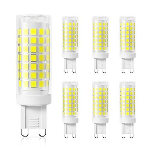 DiCUNO G9 Dimmbare 4W LED Lampe, Ersatz für 40W Halogen Lampen, 220-240V, Kaltweiß 5000K, 430 LM, Kein Flackern,6 Stücks