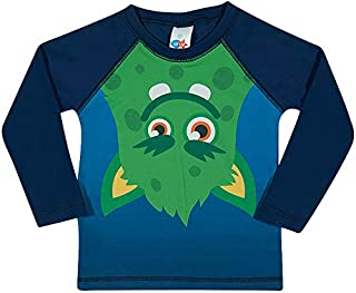 Camiseta Surfista Monstros Toddler, TipTop, Marinho, 1T