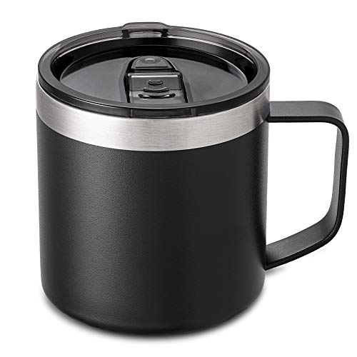Lafaso 14OZ Stainless Steel Insulated Coffee Mug With Handle,Double Wall Vacuum Travel Coffee Mug...