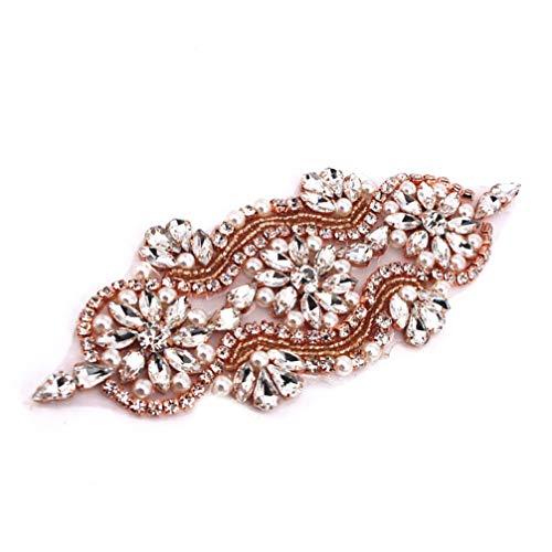 HEALLILY apliques de cristal parches de diamantes de imitación con perlas para el...