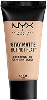 NYX PROFESSIONAL MAKEUP Stay Matte but not Flat Liquid Foundation, Porcelain, 1.18 Fluid Ounce