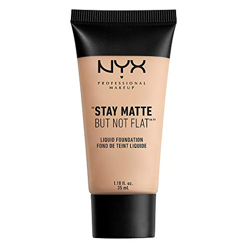 NYX PROFESSIONAL MAKEUP Stay Matte But Not Flat Liquid Foundation, Porcelain, 1.18 Ounce
