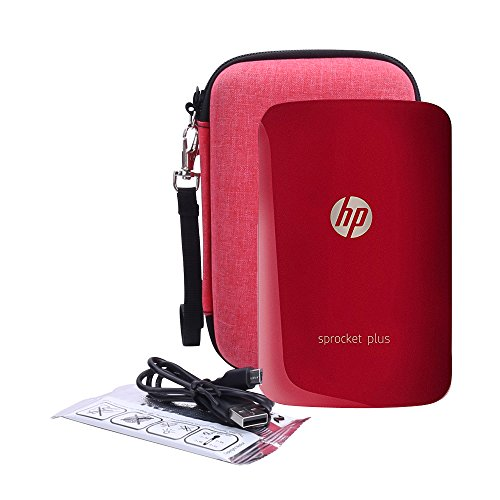 Hard Case Replacement for HP Sprocket Plus Instant Photo Printer fits Large 2.3x3.4 Sticky Paper by Aenllosi (Red)