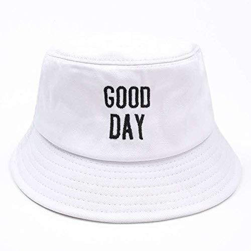 ZHENQIUFA Sombrero Pescador Gorras Pareja De Moda Bordado Panamá Sombrero De Cubo Hip Hop Pescador Panamá Sombreros Algodón Visera Exterior Cubo Tapa-Escribir