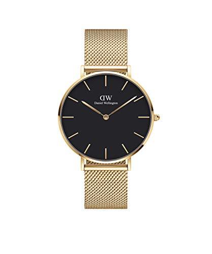 Daniel Wellington Reloj Unisex de Solo Tiempo DW00100345 Acero colección Petite Evergold