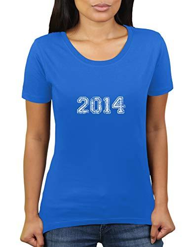 KaterLikoli - Camiseta de manga corta para mujer, diseño con texto