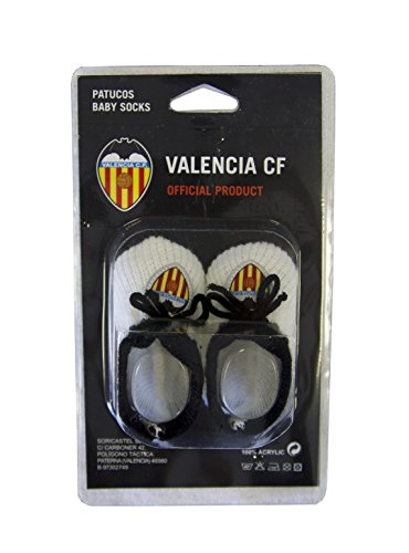 Valencia CF Patvcf Patucos, Bebés Unisex, Blanco/Naranja, Talla Única