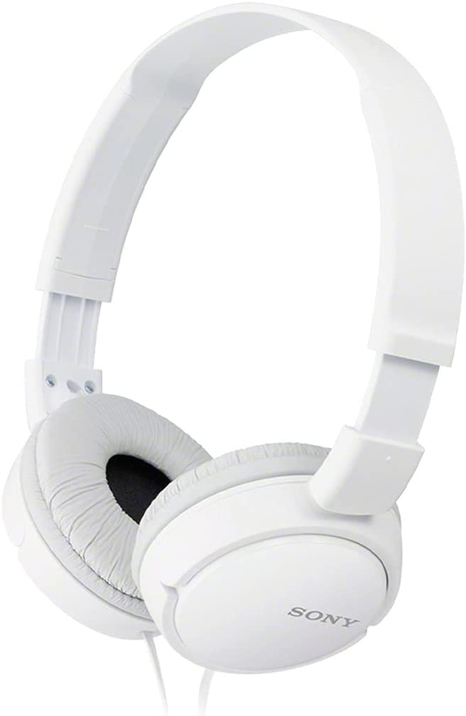 Sony ZX Series Wired On-Ear Headphones, White MDR-ZX110