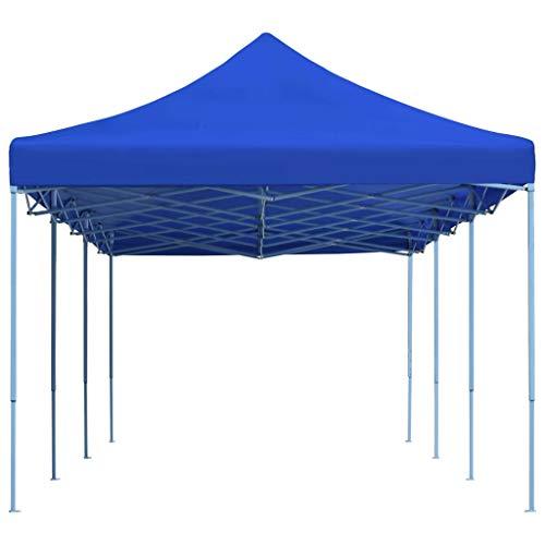 vidaXL Tente de Réception Pliable 3x9 m Bleu Pavillon Jardin Terrasse Tonelle
