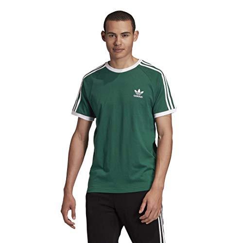 adidas Originals 3-Stripes T-Shirt Camiseta, Verde Oscuro, XL para Hombre