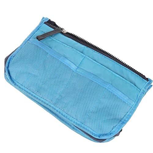 Multi-Function Thickening Handbag Organiser High-Capacity Portable Liner Tidy Travel Cosmetic Pocket Insert 12 Pockets Blue