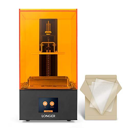LONGER Orange 10 Resin SLA 3D Printer with Parallel LED Lighting, Full Metal Body, 3.86' x 2.17 x 5.5' Printing Size, Temperature Warning